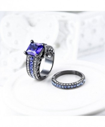 Sapphire Engagement Ring Halo Wedding in Women's Wedding & Engagement Rings