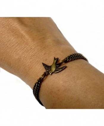 Swallow Bird Bracelet Vintage Solid Bronze - Boxed & Gift Wrapped - CR11BFC6GKR