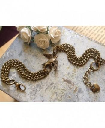 Swallow Bracelet Vintage Solid Bronze