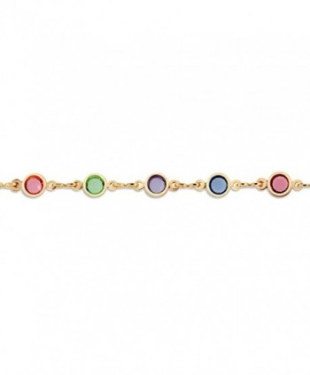 Multi Color Crystal Plated Anklet Bracelet in Women's Anklets