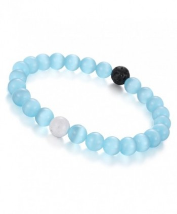 Gemstone BRCbeads Synthetic Turquoise Birthstone in Women's Strand Bracelets