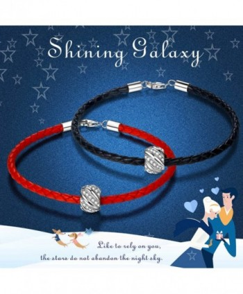ZENI Leather Bracelet Sterling Zirconia in Women's Charms & Charm Bracelets