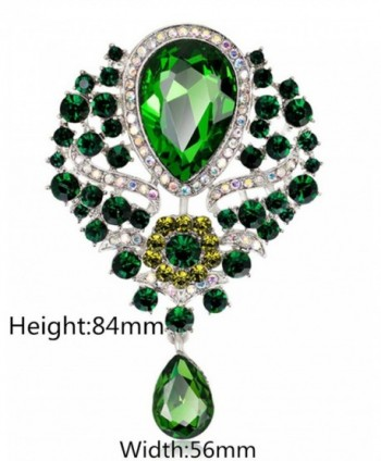 YiYi Operation Teardrop Austrian Crystal in Women's Brooches & Pins