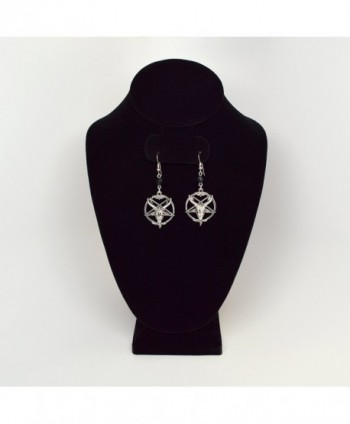 Baphomet Satanic Inverted Pentagram Earrings