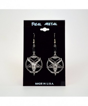 Baphomet Satanic Inverted Pentagram Earrings in Women's Drop & Dangle Earrings