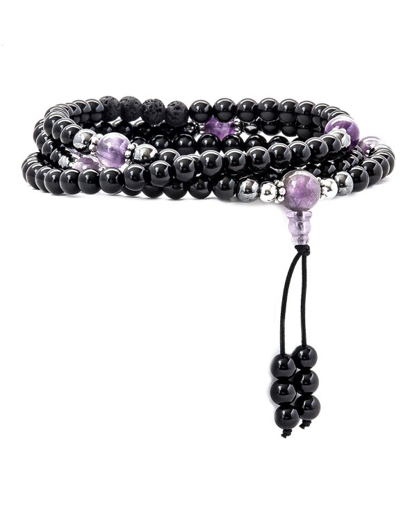 Mala Beads Gemstones Meditation Multilayer - CV12NU7JJ9Q