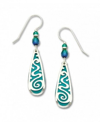 Adajio by Sienna Sky Teal Teardrop Polished Filigree Overlay 7253 - C1119B9UWK1