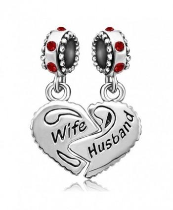 JMQJewelry Heart Wife Love Husband Valentine's Day 12 Colors Birthstone Charms For Bracelets - CR182A397IZ