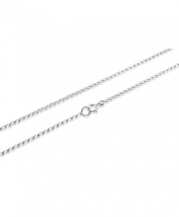 "925 Sterling Silver Thin 1mm Round Cable Chain 12""-30"" - CS11VCBYMHZ"