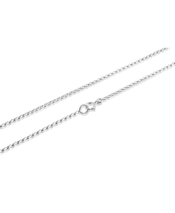 """925 Sterling Silver Thin 1mm Round Cable Chain 12""""-30"""" - CS11VCBYMHZ"""