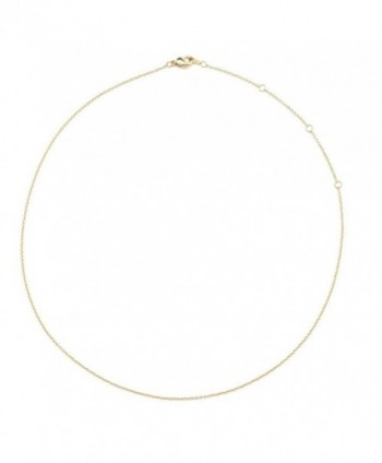 "HONEYCAT 24k Gold Plated Thin Chain Adjustable Choker | 13"" 14"" 15"" 16"" 17"" Necklace 