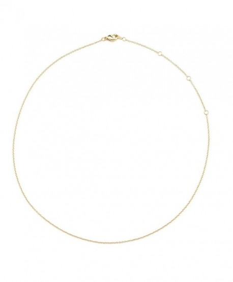 """HONEYCAT 24k Gold Plated Thin Chain Adjustable Choker 