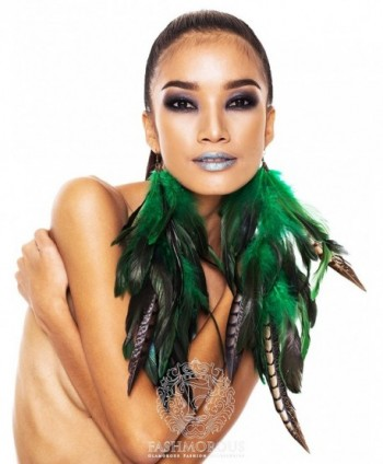 Feather Earrings Green Women Fancy
