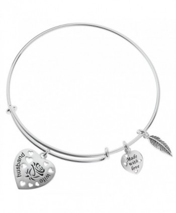 Sterling Husband Feather Adjustable Bracelet