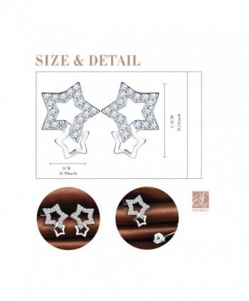 Infinite Interlocking Earrings Sterling Zirconia