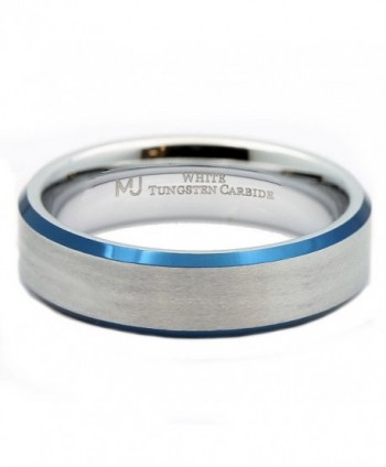 MJ Tungsten Carbide Plated Wedding in Women's Wedding & Engagement Rings