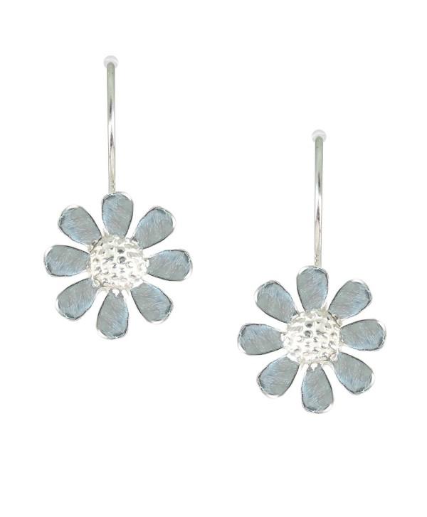Bali Sky Sterling Silver Wire Daisy Drop Earrings D104 - C612NZ6NUYT