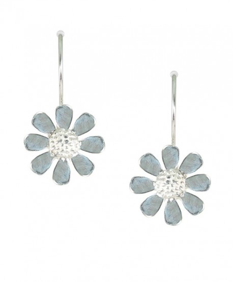 Bali Sky Sterling Silver Wire Daisy Drop Earrings D104 - C612NZ6NUYT