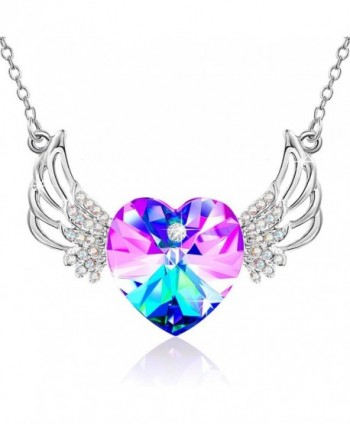 Crystals Swarovski Necklace Daughter Anniversary - Purple - CY18027KNLO