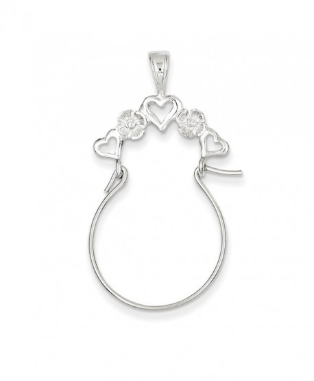 Sterling Silver Heart Charm Holder - CH113PTBEC3