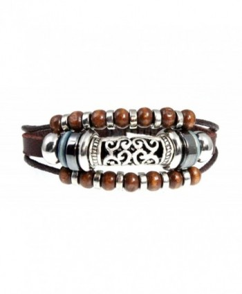 Stylish Swirl Leather Bracelet Adjustable - CH114XRQM23