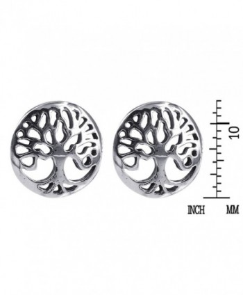 Flourishing Tree Sterling Silver Earrings in Women's Stud Earrings