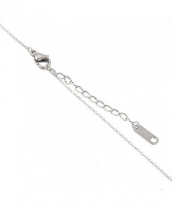 Stainless Necklace Pendant Necklace Rose nl005625 3 in Women's Pendants
