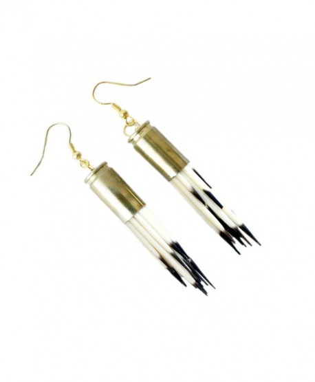 Porcupine Quill Earrings - Steampunk- Alternative- Rebel- Natural- Unique- Drop- Dangle - CA124WJOGFL