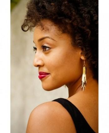 Porcupine Quill Earrings Alternative Gold plated base in Women's Drop & Dangle Earrings