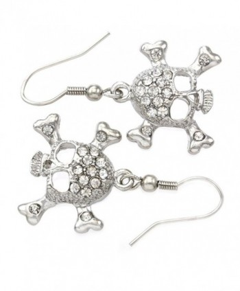 Earrings Crossbones Rhinestones Fashion Jewelry