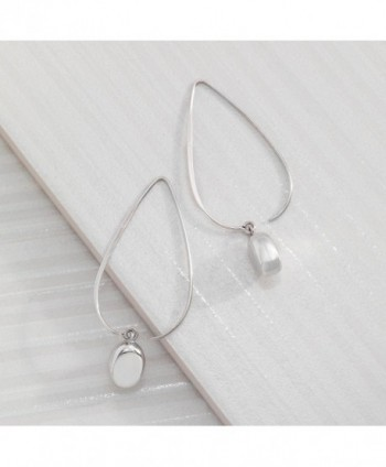 Silpadasterling Silver Wire Drop Earrings in Women's Drop & Dangle Earrings