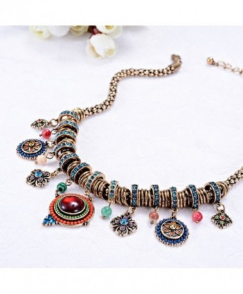 Bohemian Multicolor Pendants Rhinestone Necklace