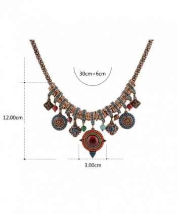 Bohemian Multicolor Pendants Rhinestone Necklace in Women's Pendants