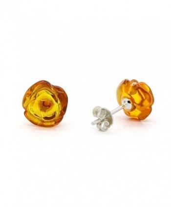 Sterling Silver Earrings Genuine Natural in Women's Stud Earrings