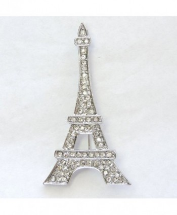 Faship Gorgeous Crystal Eiffel Brooch