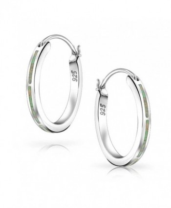 Bling Jewelry Synthetic Earrings Rhodium