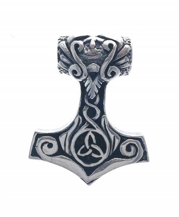 """925 Sterling Silver Thor's Hammer Celtic Pendant w/ 18"""" Box Chain - CG186TLRGE2"""