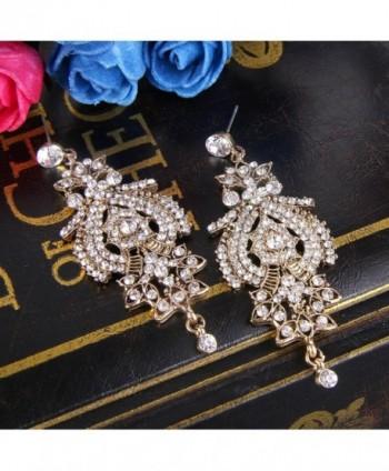 BriLove Inspired Chandelier Earrings Gold Tone in Women's Drop & Dangle Earrings