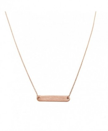 HONEYCAT Rounded Necklace Minimalist Delicate - Rose Gold - CO120Y51OE3
