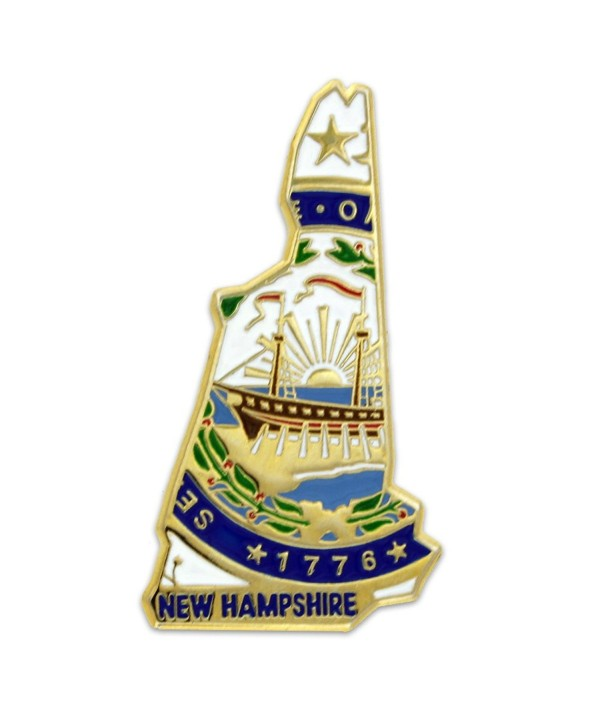 PinMart's State Shape of New Hampshire and New Hampshire Flag Lapel Pin - CG119PEKV5N