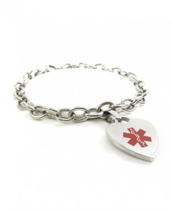 MyIDDr - Pre-Engraved & Customized Women's Taking Warfarin Medical Charm Bracelet- Steel O-Link - C511HUXAPIX