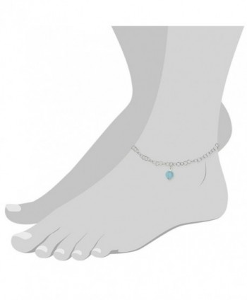 SilberDream anklet frosted Sterling SDF011H