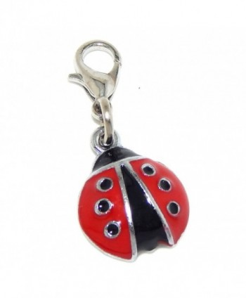 "Pro Jewelry Dangling ""Ladybug"" Clip-on Bead for Charm Bracelet 41570 - C411O09GHND"