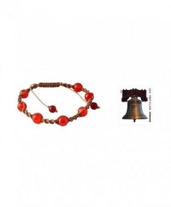 NOVICA Adjustable Shamballa Bracelet Chalcedony in Women's Link Bracelets