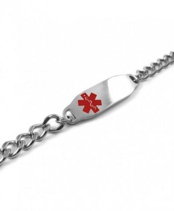 MyIDDr Pre Engraved Customizable Medical Bracelet in Women's ID Bracelets