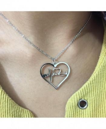 Nurse Gifts Jewelry Heartbeat Necklace in Women's Pendants