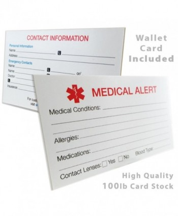 Engraved Customizable Autism Medical Id Bracelet Wallet Card
