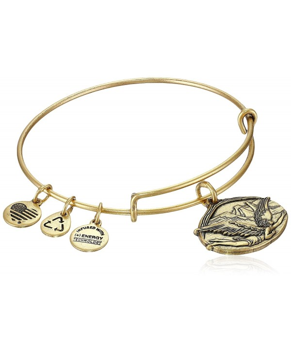 "Alex and Ani Guardian of Freedom Expandable Wire Bangle Bracelet- 2.5"" - Rafaelian Gold - C111T8VQUVR"