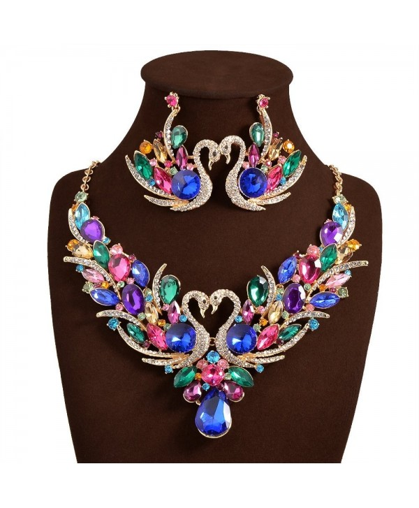"JewelryLove Necklace Statement Necklaces Earrings - "" Multi "" - C812N4Q4YQZ"