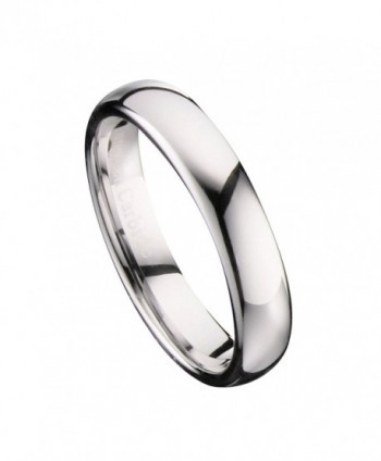 MJ 4mm Mirror Polished Comfort Fit Ring Tungsten Carbide Wedding Band - CE11SO0NFMP